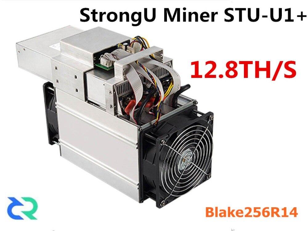 DCR HC Miner StrongU Miner STU-+ 12.8TH/S With PSU Asic Blake256R14 Miner Better Than S9 S9j DR3 Z9 T9 WhatsMiner M3