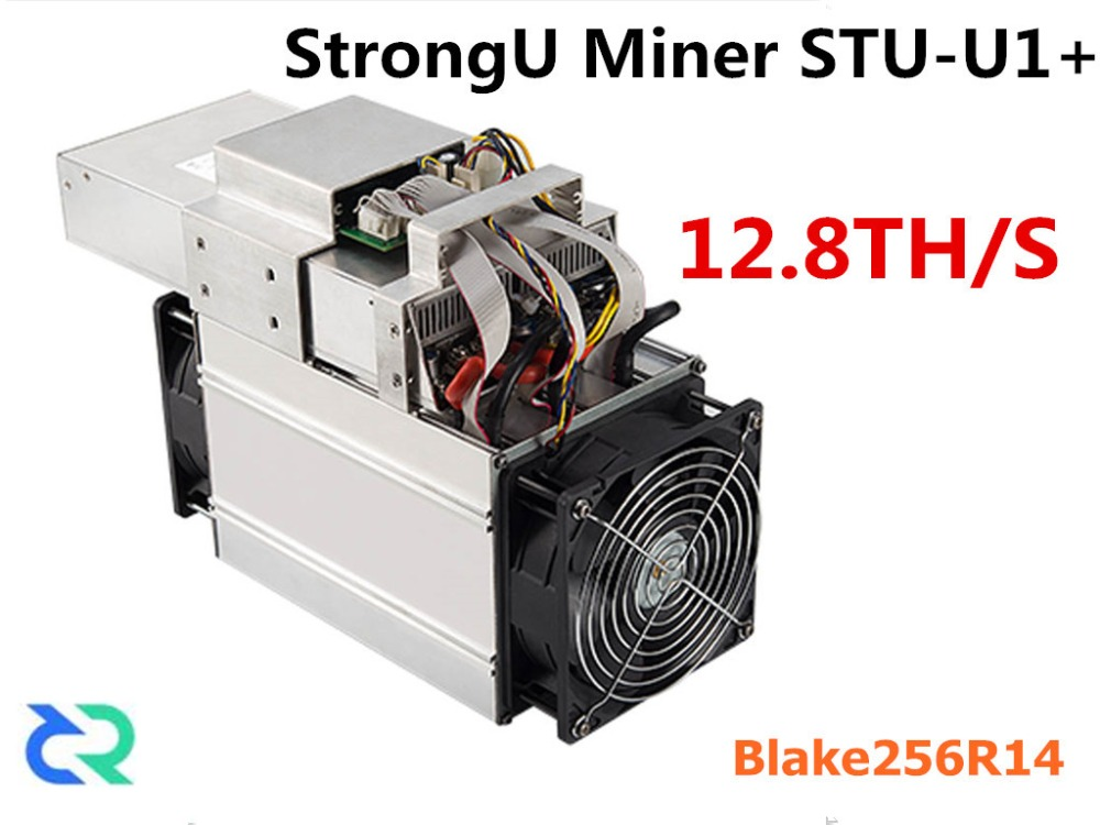 DCR HC Miner StrongU Miner STU-U1+ 12.8TH/S With PSU Asic Blake256R14 Miner Better Than Antminer S9 S9j DR3 Z9 T9 WhatsMiner M3 цена 2017