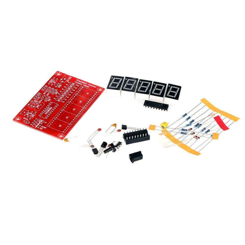 50 MHz Crystal Oscillator Frequency counter Testers DIY Kit 5 Resolution Digital Red 3