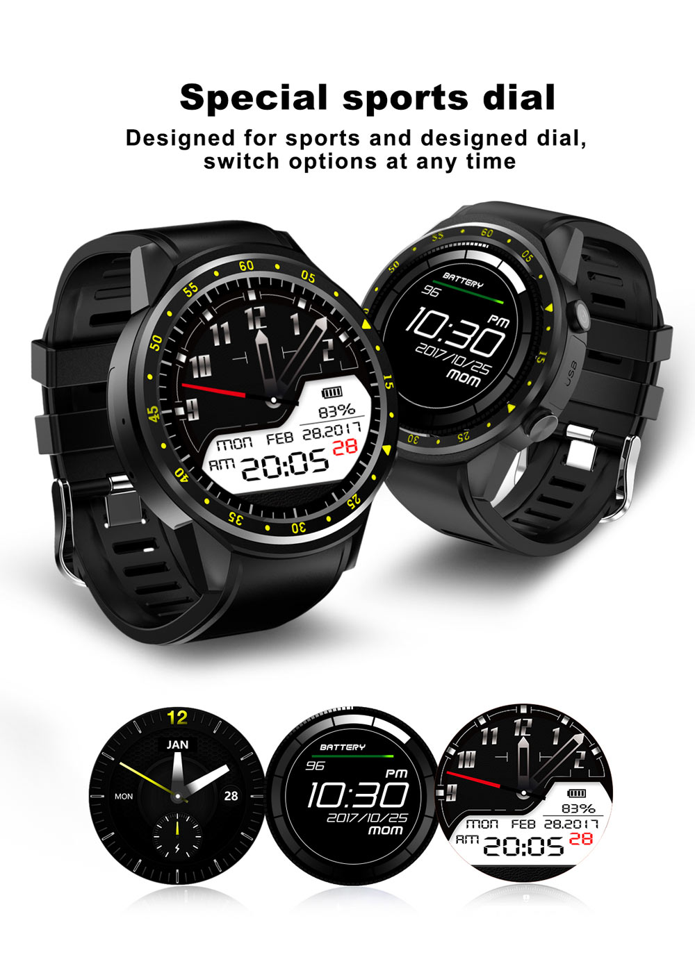 GPS Smart Watch With SIM Card Camera