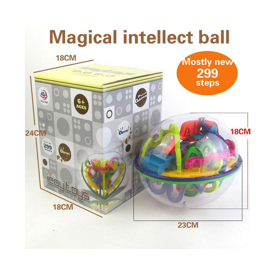 3D House Style Maze Intellect Ball Balance Game Puzzle Kids X-mas Toys CA