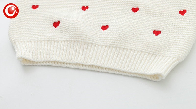 Children Girls Cardigan Heart Design Sweater Kids Long Sleeve O Neck Warm Pullover Knitted Clothes New Year Baby Clothing 2-6Y (9)