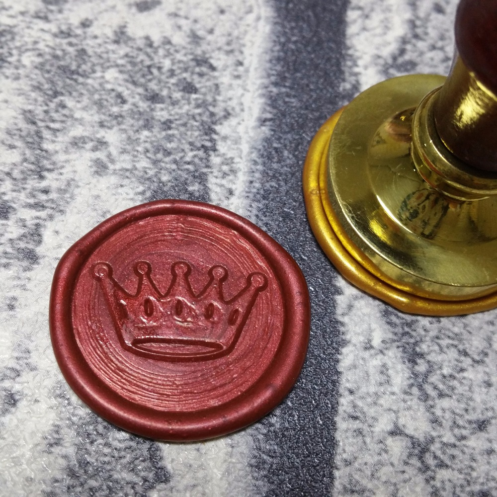 Online Shop Crown Wax Seal Stamp Customize logo Personalized image ...