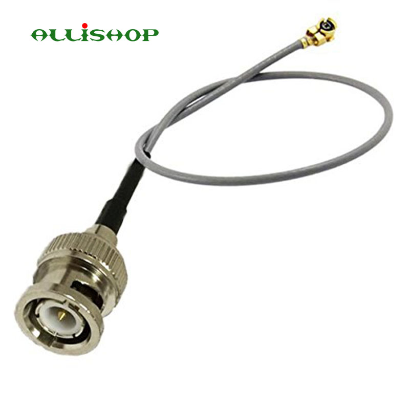 ALLiSHOP 0-3Ghz pigtail BNC male brooches plug connector to U.FL IPX connectors 1.13 cable for PCI Wifi Card Computer Networking
