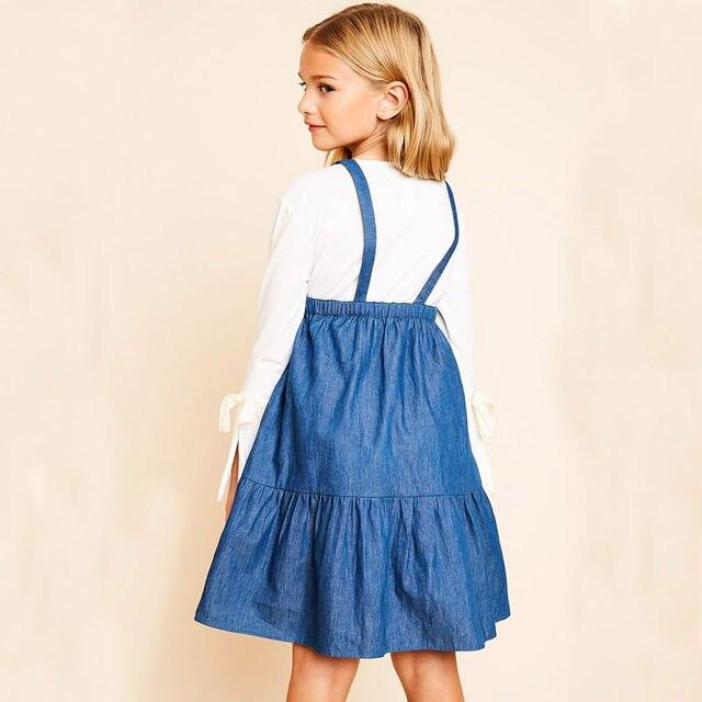 bb45820e8fdc Online Shop HAYDEN Girls Denim Overalls Dress 10 to 12 Years ...