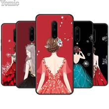 Wedding Dress Girl Phone Case for Oneplus 7 7 Pro 6 6T 5T Silicone Case for Oneplus 7 7Pro Black Soft TPU Cover Shell