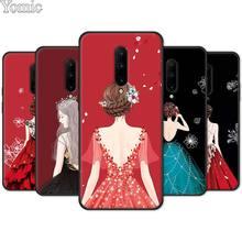 Wedding Dress Girl Phone Case for Oneplus 7 7 Pro 6 6T 5T Silicone Case for Oneplus 7 7Pro Black Soft TPU Cover Shell