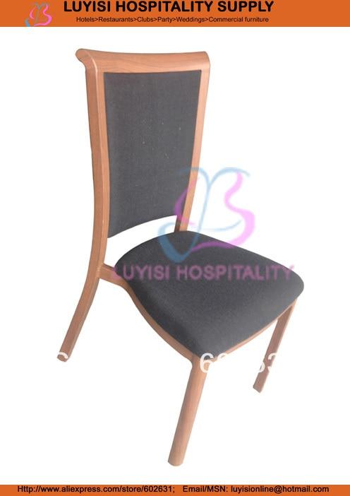 Hot sale stackable wood imitation Aluminum dining chair hot sale cayler