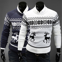 2017 Winter New Fashion Man Brand Deer Knitting Christmas Sweater Pullover Men Long Sleeve Slim Fit Sweaters O Neck