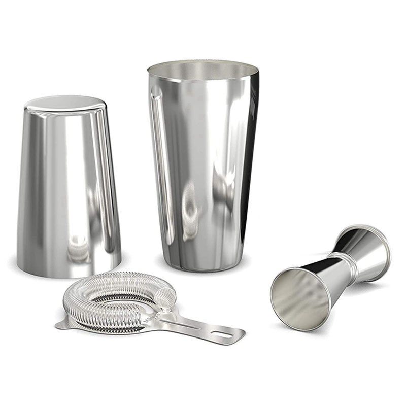 Boston Shaker set Silver 4 Piece