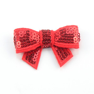 Image 5 - 120 unids/lote 37 colores U Pick 1,8 Petite Glitter bordado lentejuelas arcos DIY recién nacido diadema ropa zapatos accesorios HDJ108