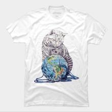 Ball cat print T Shirt short sleeve cute tops tees cat costume cat ring clothing