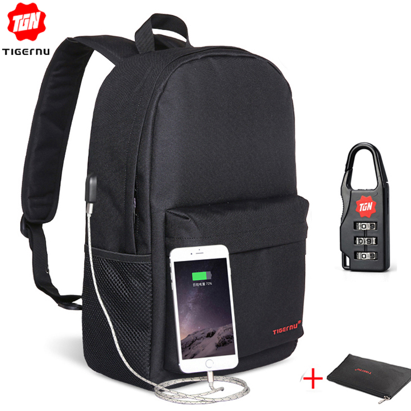 06b75cf4c4 Tigernu Men Small Backpacks Collage 15.6 inchs USB Laptop Kanken Backpack  Women Male Mochila School Bags