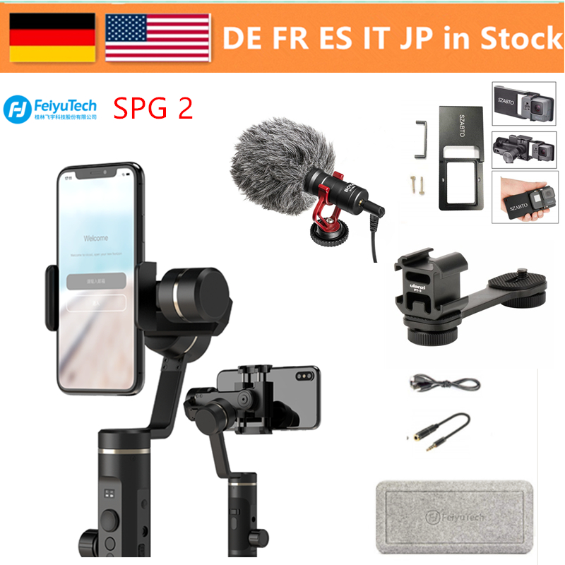FeiyuTech Feiyu SPG 2 3 axes stabilisateur de cardan à main conception anti-projections pour Smartphone iphone Xs X 8 7 Galaxy S9 + Gopro 7 6