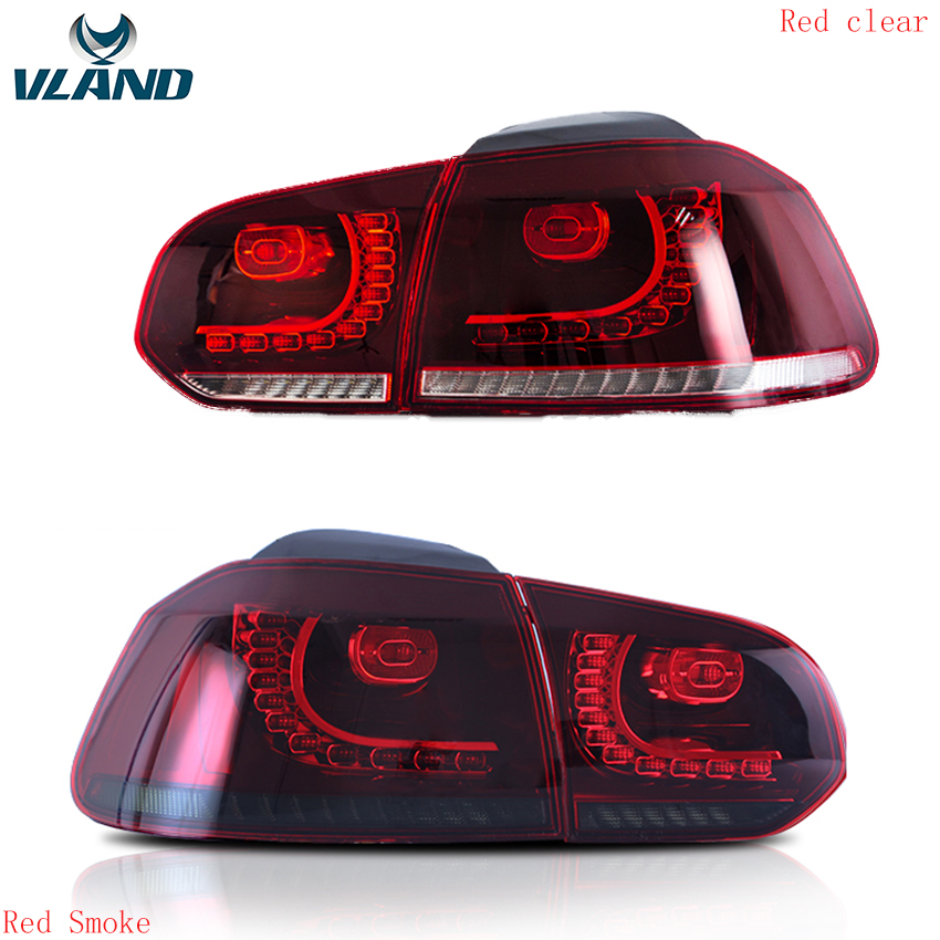 VLAND Factory For Car Tail Lamp Volkswagen Golf 6 Mk6 R20 LED Taillight 2010 2012 2014 2016 Light With Fog lights