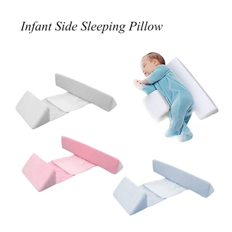 Newborn Baby Sleep Pillow Side Sleeper Pro Pillow Infant Sleep Prevent Flat Head Shape Anti Roll Pillow