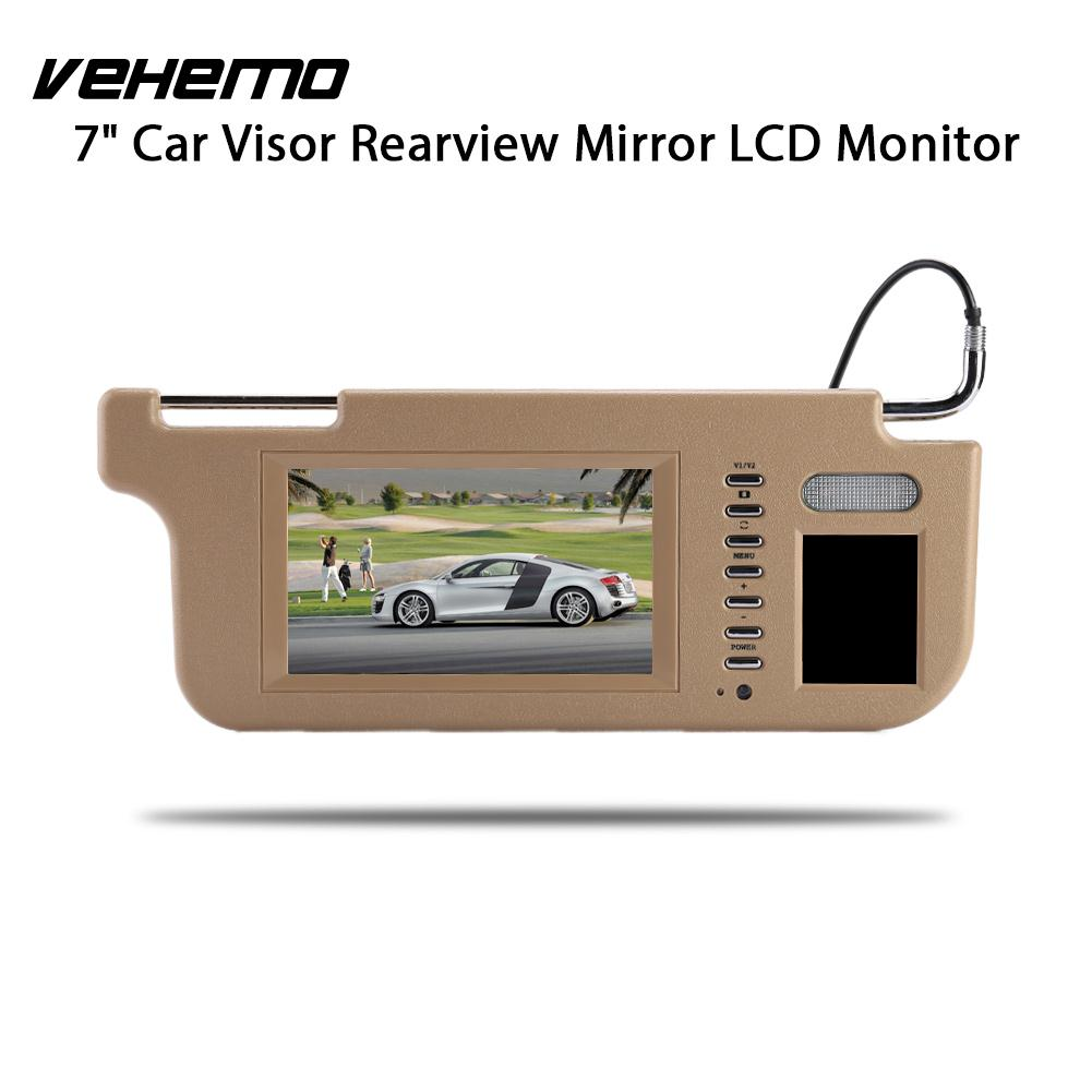 Vehemo Car Sun Visor Monitor Sunvisor View Monitor Car DVD Monitor Touch 7 TFT LCD Premium Rear View Camera touch 7inch car sun visor dvd tv media screen&rear view silver backup monitor camera kits