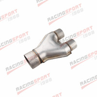 "Universal Custom Exhaust Y Pipe 2.5"" Dual 3.5"" Single Aluminized Steel