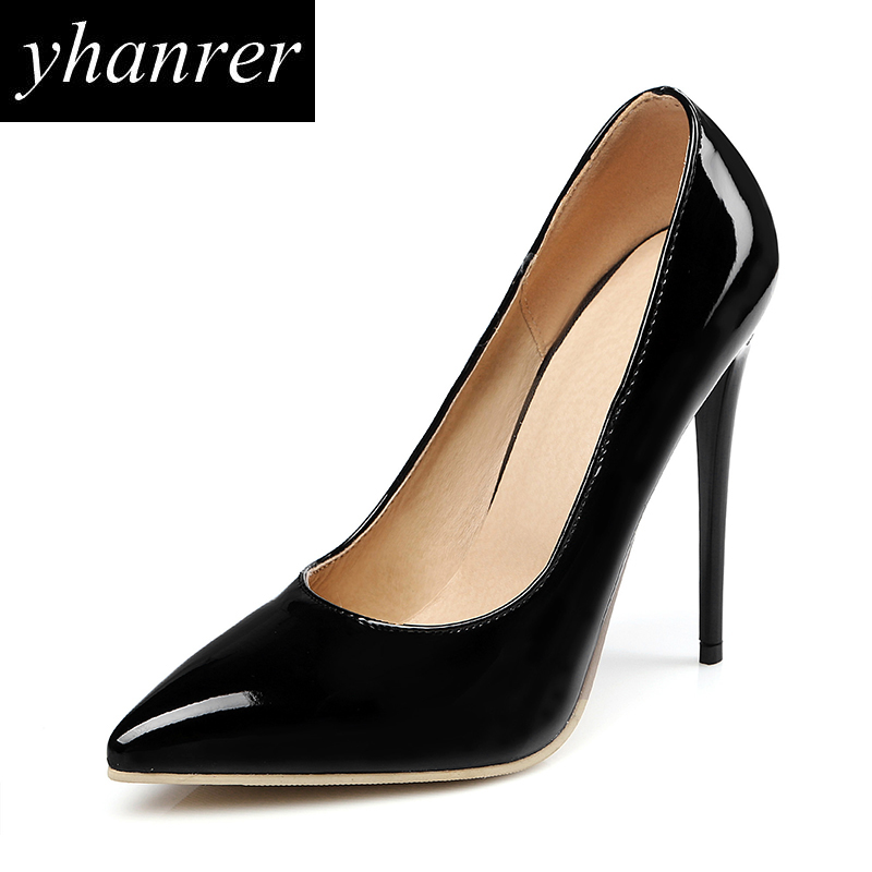 New Women Classic High Heels Shoes Pointed Toe Thin Heel Pumps Party Wedding Stilettos Lady Super High Heeled 12cm Y127 cicime women s heels thin heel spikes heels solid slip on wedding fashion leisure casual party dressing high heel platform pumps