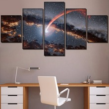 Meteor Landscape Painting 5 Pieces Home HD Print Artwork The Wall Art Paintings Canvas Living Room