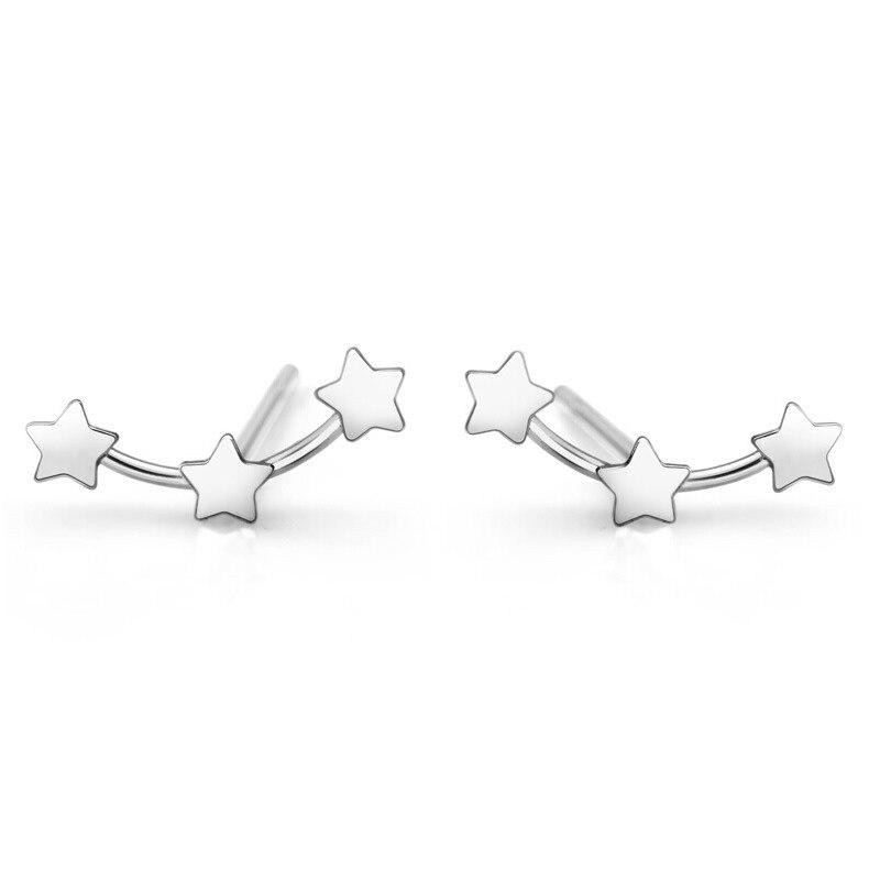 abf613f0ced Design da marca 925-sterling-silver estrela do parafuso prisioneiro brincos  da moda brincos de prata para as mulheres