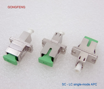 GONGFENG 10PCS New HOT SELL Optical Fiber Connector LC-SC Singlemode APC MM Metal Adapter Flange Coupler Special Wholesale