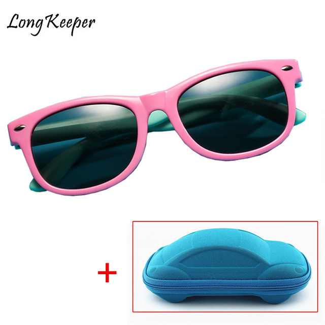 cc5cc8253a2 New Kids Polarized Sunglasses Sun Glasses for Children Boys Girls Fashion  Eyewares TR90 Coating Lens UV 400 Protection With Case