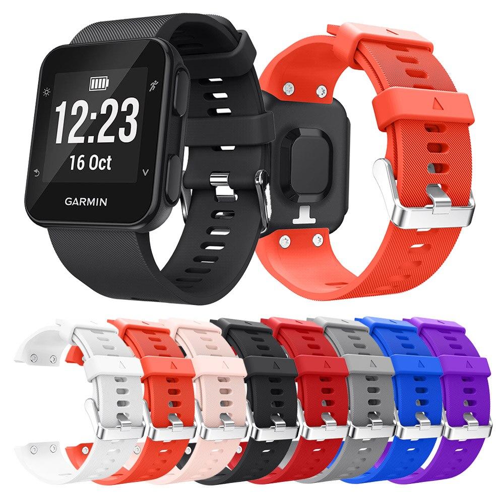 Dəyişdirilən Silikon Saatlı İdman Saatı Garmin Forerunner 35 Smart Watch üçün bilək kəməridir