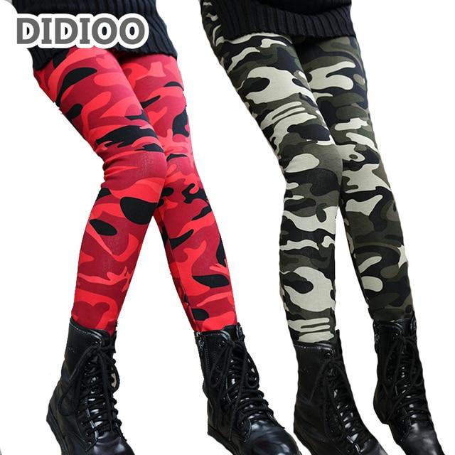 Teenage Girls Leggings for Kids Camouflage Pants Girls Cashmere Leggings Winter Child Trousers 10 12 14 Years Girls Warm Bottoms