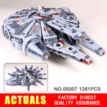 Falcon Marvel star wars mini figure starwars model kits LEPIN 05007 Millennium Falcon Force awakens building blocks legeod 79213
