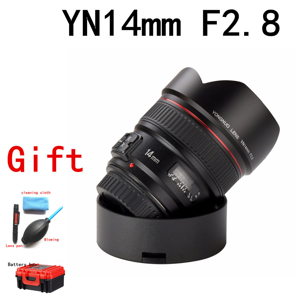 Presell YONGNUO 14mm F2.8 Ultra-wide Angle Prime Lens YN14mm Auto Focus AF MF Metal Mount Lens for Canon <font><b>700D</b></font> 80D 5D Mark III IV image