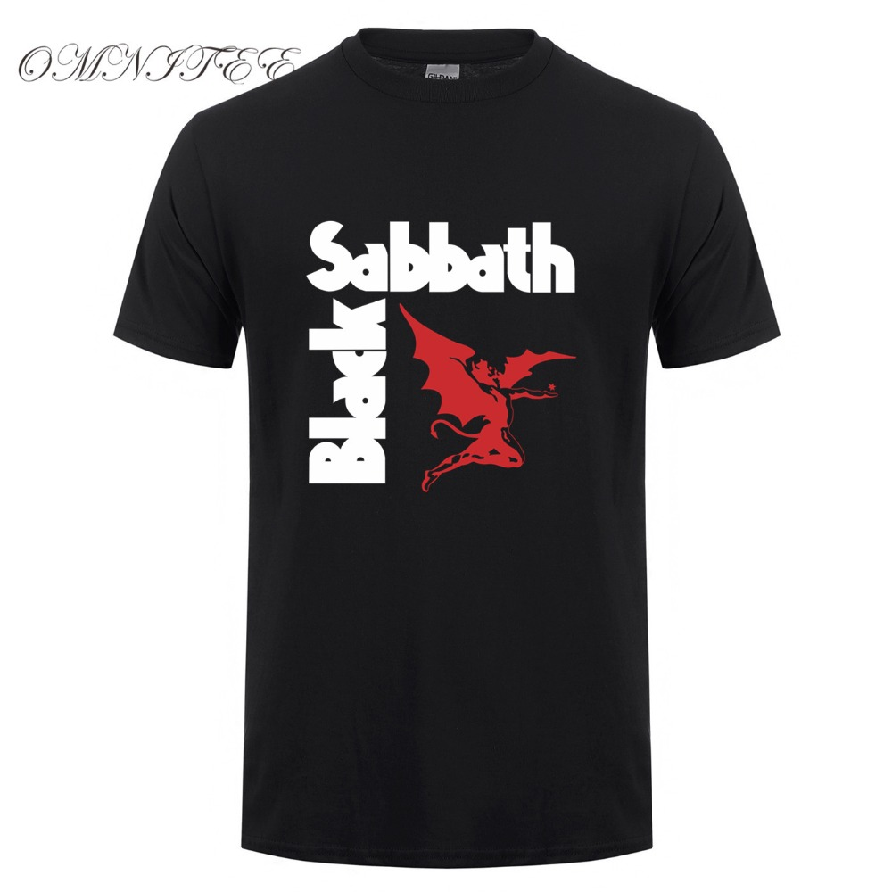 Fashion Black Sabbath T Shirt Men Heavy Metal Rock Band T