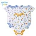 3 Unids/lote BABY BODY Patrón Impreso Ropa de Bebé de Manga Corta de Verano Ropa de Bebé para La Muchacha Del Muchacho Del Bebé Pijamas