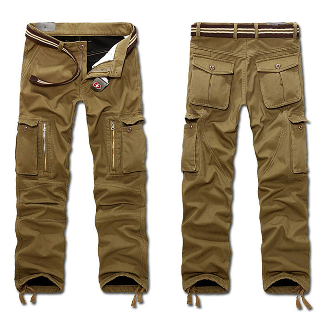 b88da4ebdd9 2019 New Men s Winter Tactical Pants Military Casual Cargo Pants Male  Overalls Casual Fleece Trousers Large Plus Size 29~40 hot