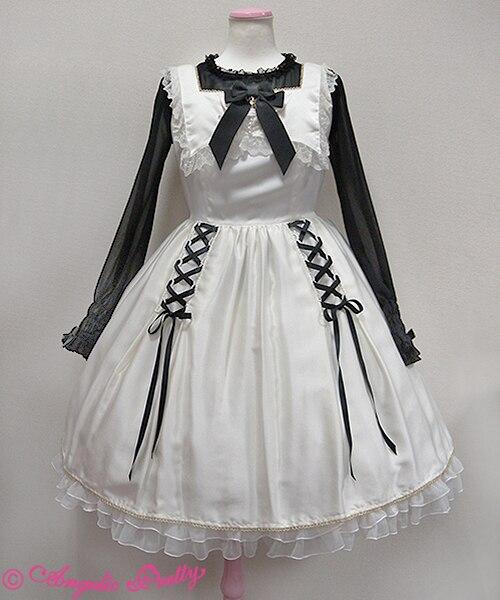 Personnalisé 2018 été blanc sans manches Lolita robe dentelle Halloween Cosplay Costumes pour les femmes