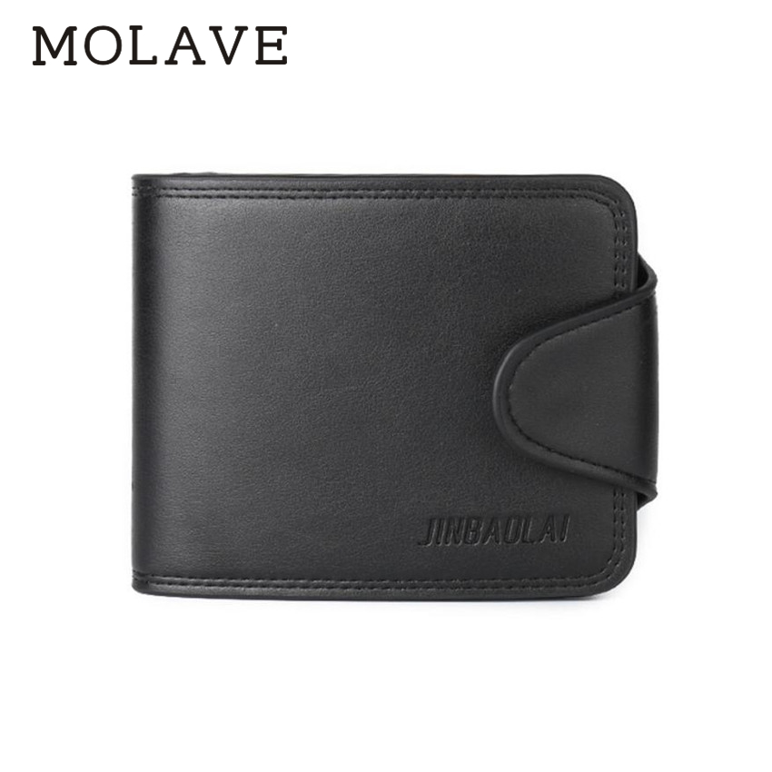 Molave кошельки бумажник мужской сплошной портмоне HASP моды Для мужчин двойные кожа