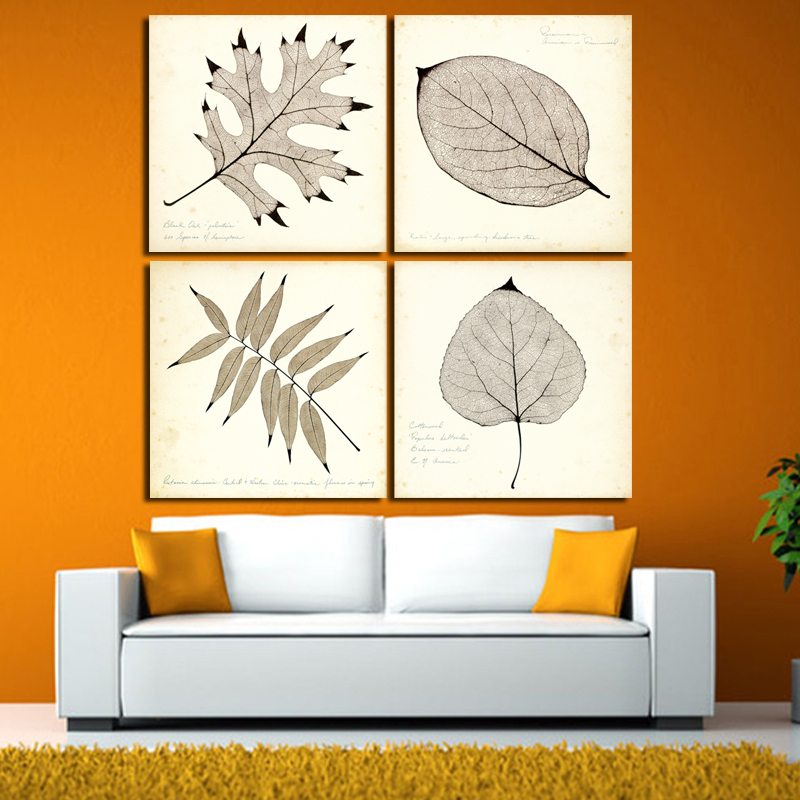 2017 Modern Cottage Green Leaves Flower Plant Canvas Print