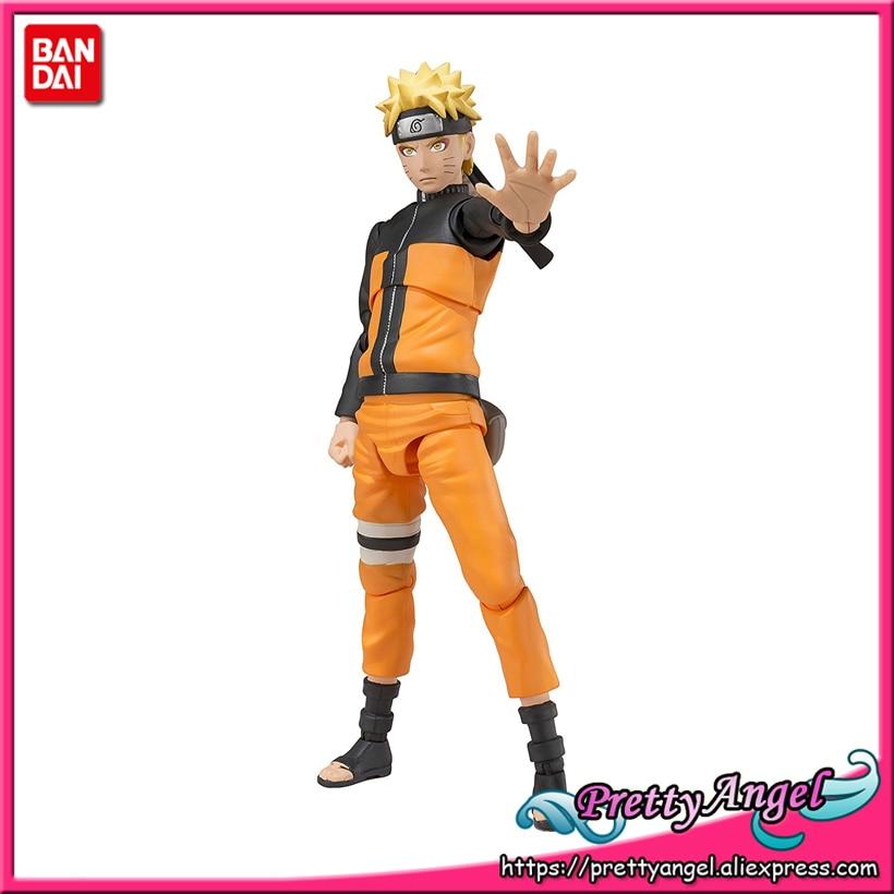 PrettyAngel - Genuine Bandai Tamashii Nations S.H.Figuarts NARUTO Shippuden Naruto Uzumaki Sennin Mode Action Figure все цены