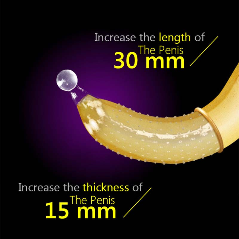 2P/Lot Penis Enlargement Extender Special Sex Condoms For Men Spray Delay Ejaculation With Sex Ball G Spot Stimulator Sex Toys