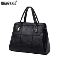 MBAGWMH Genuine Leather Women Handbag Spring And Summer Female Brand Designer Black Shoulder Crossbody Women Bag