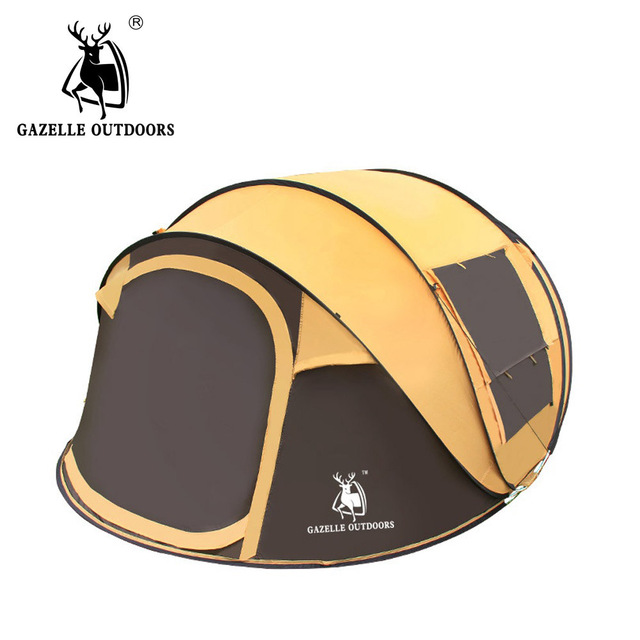 GAZELLE OUTDOORS throw tent outdoor automatic tents speed open throwing pop up waterproof camping tent large family tents