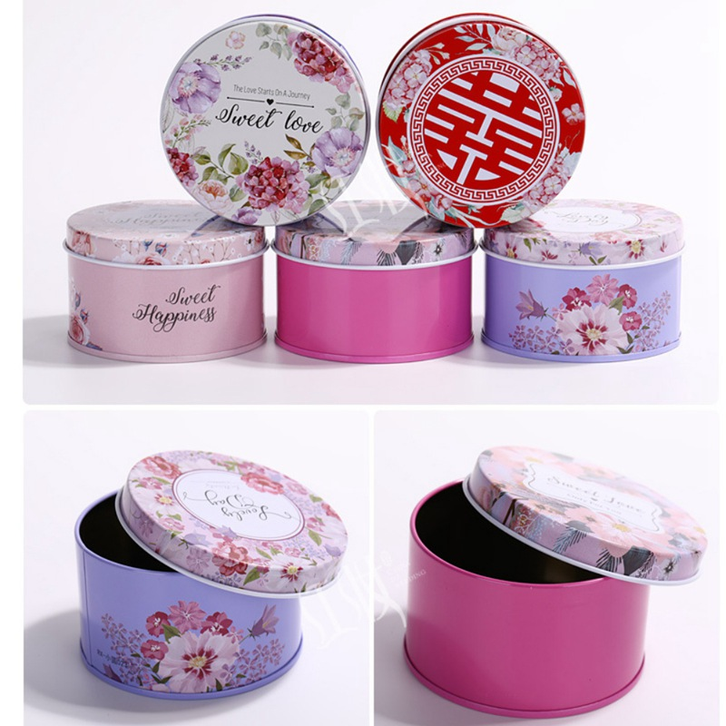 Gift Boxes Candy Storage Box Round Irrigation Wedding Candy Jewelry Boxes