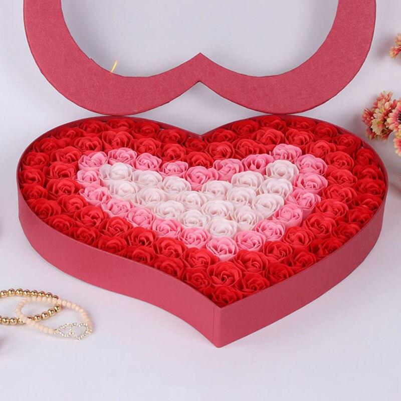 100ピース/セット浴室香りゲストソープフラワー形バラ花びら用バレンタインの日装飾花p5