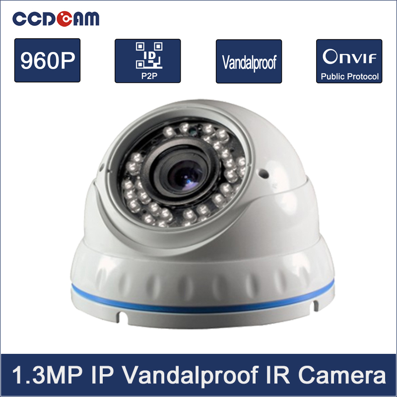 CCDCAM 24pcs IR Vandalproof 1.3 Megapixel HD 960P IP Camera Indoor Dome Camera Home Security Monitoring WebcamCCDCAM 24pcs IR Vandalproof 1.3 Megapixel HD 960P IP Camera Indoor Dome Camera Home Security Monitoring Webcam