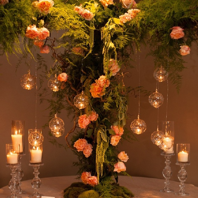 12 Pcs Lot Hanging Round Votive Candle Holder Glass Orb Terrarium