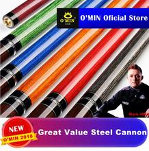 OMIN Punch Cue 2-Piece Kit 14mm Tip Hand-made Stick Billiard Professional 140cm
