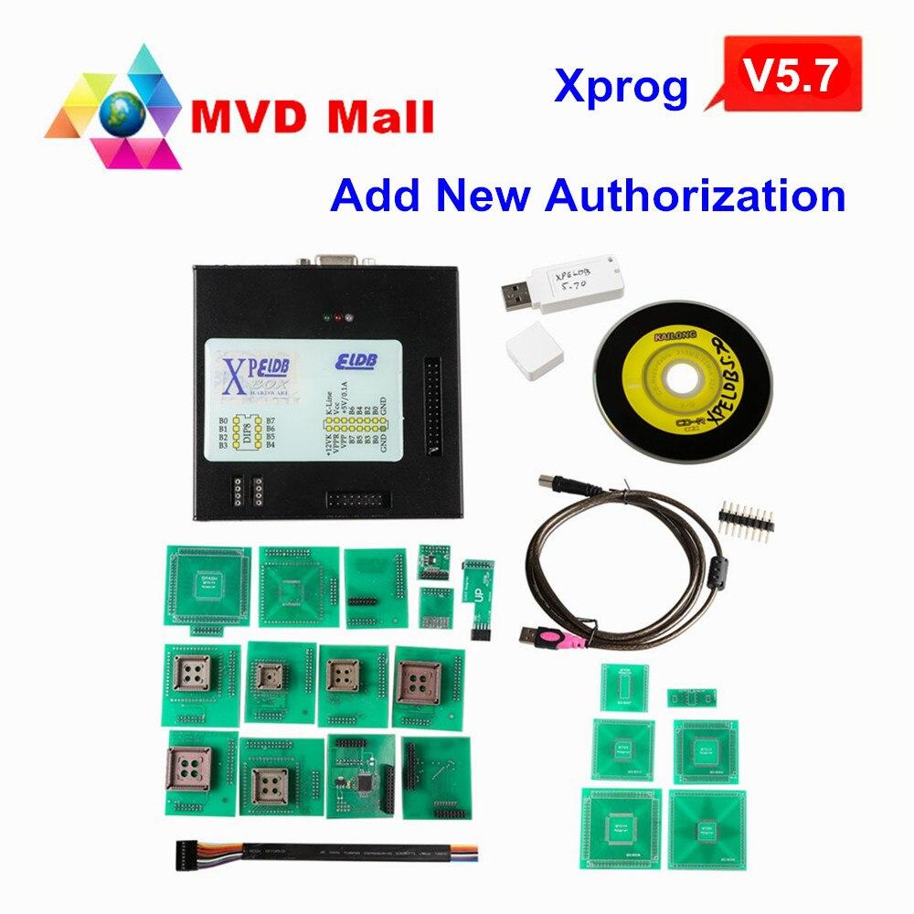 Prix pour 2017 Nouvellement Arrivée XPROG V5.70 ECU Chip Tuning Outil Avec USB Dongle Ajouter Nouvelle Autorisation X prog 5.7 Mieux Que X-PROG M 5.60