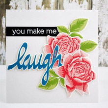 Naifumodo Laugh Letter Dies Scrapbooking Word Metal Cutting New 2019 Album Embossing Craft Making Card Die Cut Decoration
