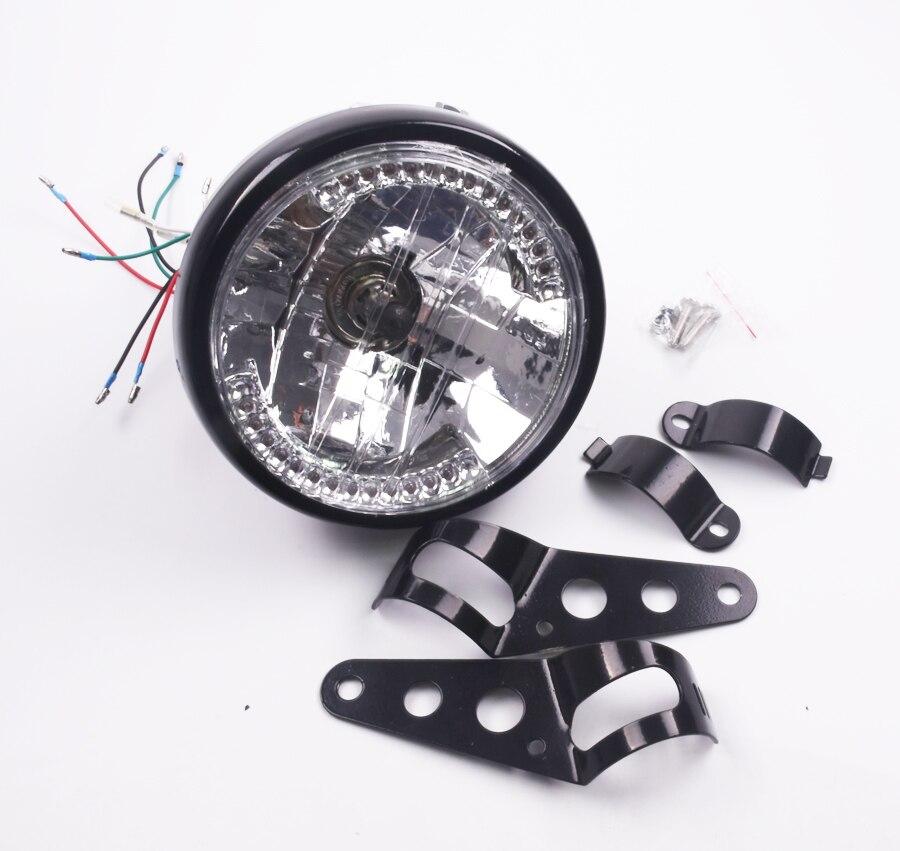 ФОТО New 7 1/2 '' Amber 26 LED 35W 6000K Round Motocicleta Turn Signals LED Motorcycle Headlight for Harley Motor Parts