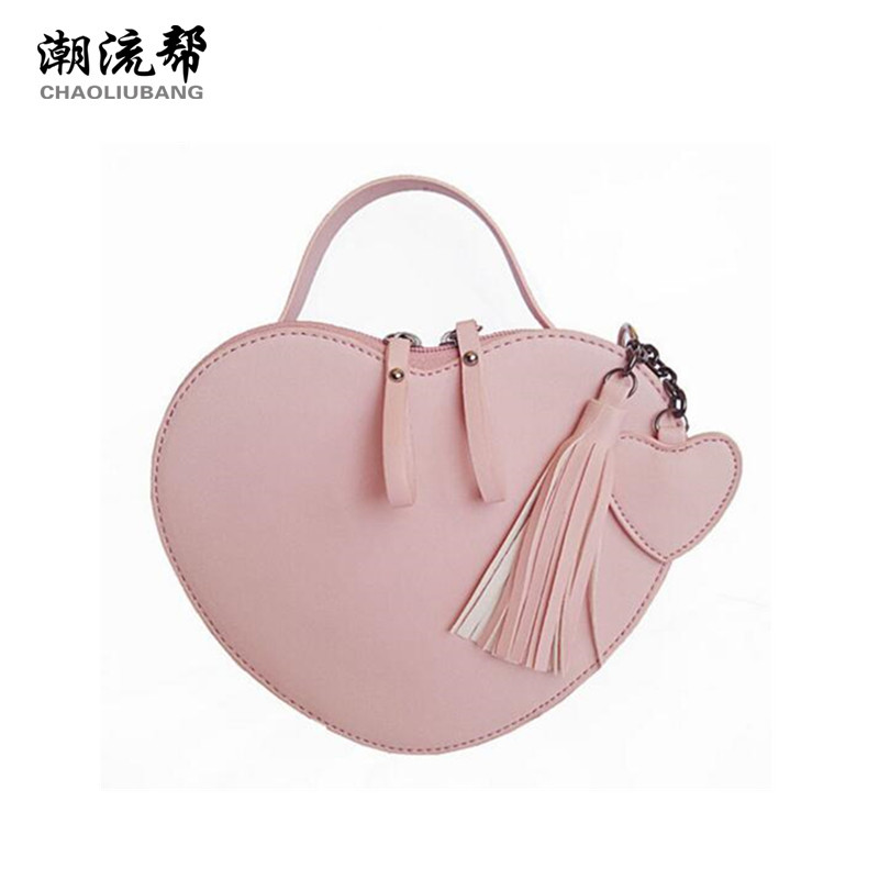 CHAOLIUBANG Sweety women's leather handbags heart shaped mini crossbody bags for women candy color shoulder bag summer sac a chaoliubang novelty women leather handbags letters printing wings flap bag mini crossbody bags for women shoulder purse sac a